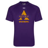 Under Armour Purple Tech Tee-Alcorn Grandpa