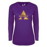Ladies Syntrel Performance Purple Longsleeve Shirt-Alcorn A