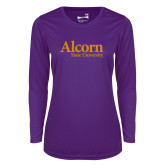 Ladies Syntrel Performance Purple Longsleeve Shirt-Alcorn State University