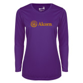 Ladies Syntrel Performance Purple Longsleeve Shirt-Alcorn