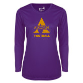 Ladies Syntrel Performance Purple Longsleeve Shirt-Alcorn Football