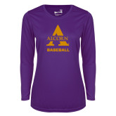 Ladies Syntrel Performance Purple Longsleeve Shirt-Alcorn Baseball