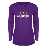 Ladies Syntrel Performance Purple Longsleeve Shirt-Alcorn State Football