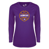 Ladies Syntrel Performance Purple Longsleeve Shirt-Alcorn State Basketball