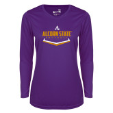 Ladies Syntrel Performance Purple Longsleeve Shirt-Alcorn State Softball