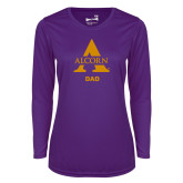 Ladies Syntrel Performance Purple Longsleeve Shirt-Alcorn Dad