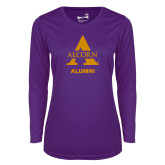 Ladies Syntrel Performance Purple Longsleeve Shirt-Alcorn Alumni