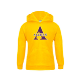Youth Gold Fleece Hoodie-Alcorn Official Logo