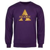Purple Fleece Crew-Alcorn A