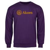 Purple Fleece Crew-Alcorn