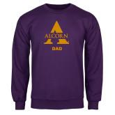 Purple Fleece Crew-Alcorn Dad