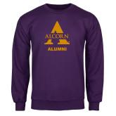 Purple Fleece Crew-Alcorn Alumni