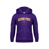 Youth Purple Fleece Hoodie-Arched Alcorn State