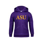 Youth Purple Fleece Hoodie-ASU