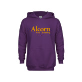 Youth Purple Fleece Hoodie-Alcorn State University