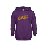 Youth Purple Fleece Hoodie-Alcorn State Braves