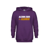 Youth Purple Fleece Hoodie-Alcorn State Alumni