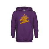Youth Purple Fleece Hoodie-Brave Strong