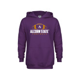 Youth Purple Fleece Hoodie-Alcorn State Football