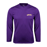 Alcorn Syntrel Performance Purple Longsleeve Shirt-Arched Alcorn State University