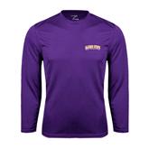 Syntrel Performance Purple Longsleeve Shirt-Arched Alcorn State University