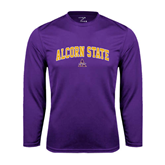 Alcorn Syntrel Performance Purple Longsleeve Shirt-Arched Alcorn State