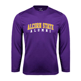 Alcorn Syntrel Performance Purple Longsleeve Shirt-Alumni