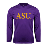 Alcorn Syntrel Performance Purple Longsleeve Shirt-ASU