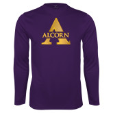 Performance Purple Longsleeve Shirt-Alcorn A