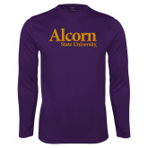 Performance Purple Longsleeve Shirt-Alcorn State University