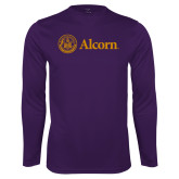 Performance Purple Longsleeve Shirt-Alcorn