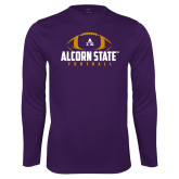 Performance Purple Longsleeve Shirt-Alcorn State Football