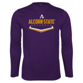 Performance Purple Longsleeve Shirt-Alcorn State Softball