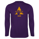 Performance Purple Longsleeve Shirt-Alcorn Dad