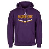 Purple Fleece Hoodie-Alcorn State Softball