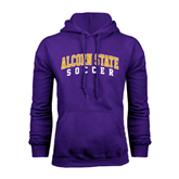 Alcorn Purple Fleece Hoodie-Soccer