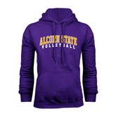 Alcorn Purple Fleece Hoodie-Volleyball
