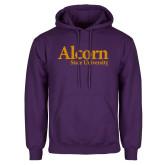 Purple Fleece Hoodie-Alcorn State University