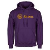 Purple Fleece Hoodie-Alcorn