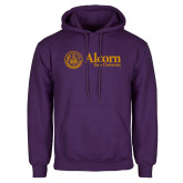 Purple Fleece Hoodie-Alcorn State University Seal