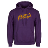 Purple Fleece Hoodie-Alcorn State Braves