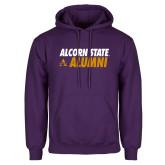 Purple Fleece Hoodie-Alcorn State Alumni