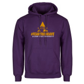 Purple Fleece Hoodie-Fear the Brave