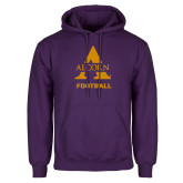 Purple Fleece Hoodie-Alcorn Football