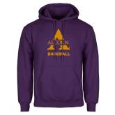 Purple Fleece Hoodie-Alcorn Baseball