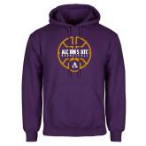Purple Fleece Hoodie-Alcorn State Basketball