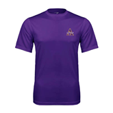 Syntrel Performance Purple Tee-Alcorn Official Logo