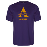 Performance Purple Tee-Alcorn Alumni
