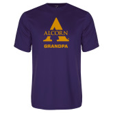 Performance Purple Tee-Alcorn Grandpa
