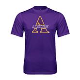 Syntrel Performance Purple Tee-Alcorn Official Logo